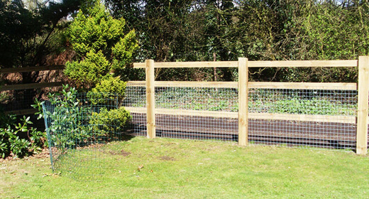 Post and Rail Fencing Installation