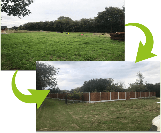 49 bays with 900mm wide gates   Chelsmford Fencing and Landscaping
