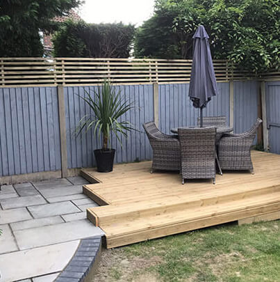 Decking area   Chelmsford Fencing and Landscaping