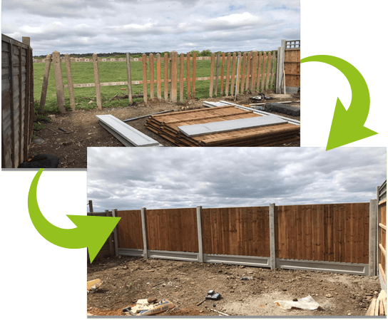 Installation of 4 bays in Romford   Chelmsford Fencing and Landscaping