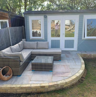 Patio and Summerhouse Installation   Chelmsford Fencing and Landscaping