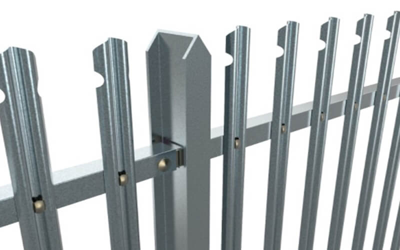 Rounded and notched steel palisade fencing   Chelmsford Fencing and Landscaping