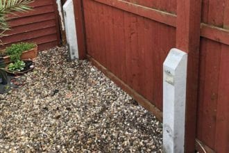 After Image of installing concrete support struts | Chelmsford Fencing and Landscaping