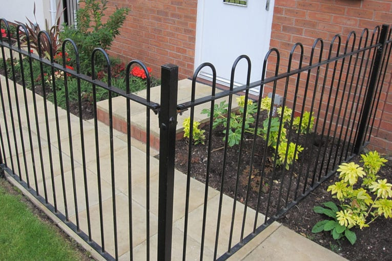 Bow Top Railing Fencing Installation   Chelmsford Fencing and Landscaping