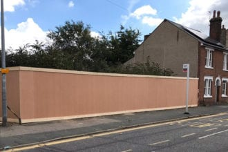 Construction Site Hoarding | Chelmsford Fencing and Landscaping5