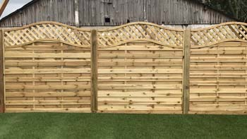 Omega Panel Fencing   Chelmsford Fencing and Landscaping