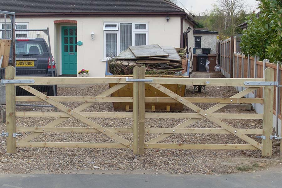 Pair of 5 bar field gates | Chelmsford Fencing and Landscaping