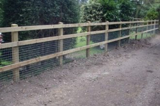 Post and Rail Installation | Chelmsford Fencing and Landscaping