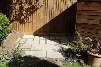 Rustic Slab Patio | Chelmsford Fencing and Landscaping