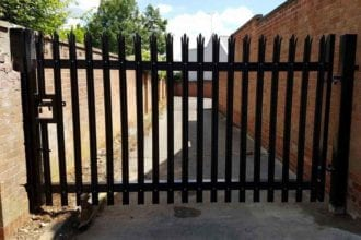 Security Gate Installation   Chelmsford Fencing and Landscaping