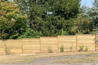 Wood Fence Panel Installation   Chelmsford Fencing and Landscaping